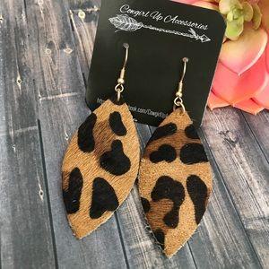 Jewelry - Leopard Cowhide Earrings